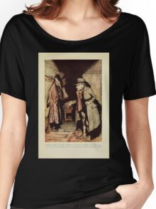 A Christmas Carol by Charles Dickens art by Arthur Rackham 1915 0041 Nobody Under The Bed Women's Relaxed Fit T-Shirt