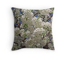 Blooming on the Lakeshore Throw Pillow
