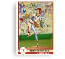 Slim Cunningham Baseball Card Canvas Print