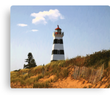 Looking Up from the Dunes at West Point Light Canvas Print