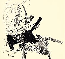 The Zankiwank & the Bletherwitch by Shafto Justin Adair Fitz Gerald art Arthur Rackham 1896 0191 Griffin and Phoenix by wetdryvac