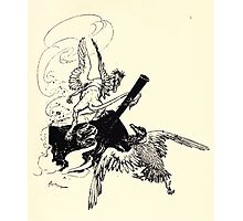 The Zankiwank & the Bletherwitch by Shafto Justin Adair Fitz Gerald art Arthur Rackham 1896 0191 Griffin and Phoenix Photographic Print