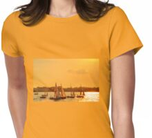 Sunset Sailing - Hudson River - NYC Womens Fitted T-Shirt