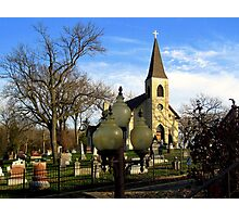 St. James of the Sag Church Lamps Photographic Print