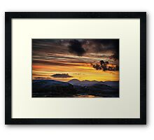 Lewis Sunset Framed Print