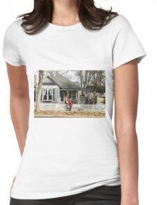 Two Handed Dog Walk Womens Fitted T-Shirt
