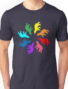 Color: Bear Rainbow Pinwheel Unisex T-Shirt