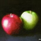Red and Green Apples 1 Painterly by Christopher Johnson