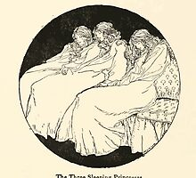 Snowdrop & Other Tales by Jacob Grimm art Arthur Rackham 1920 0076 The Three Sleeping Princesses by wetdryvac