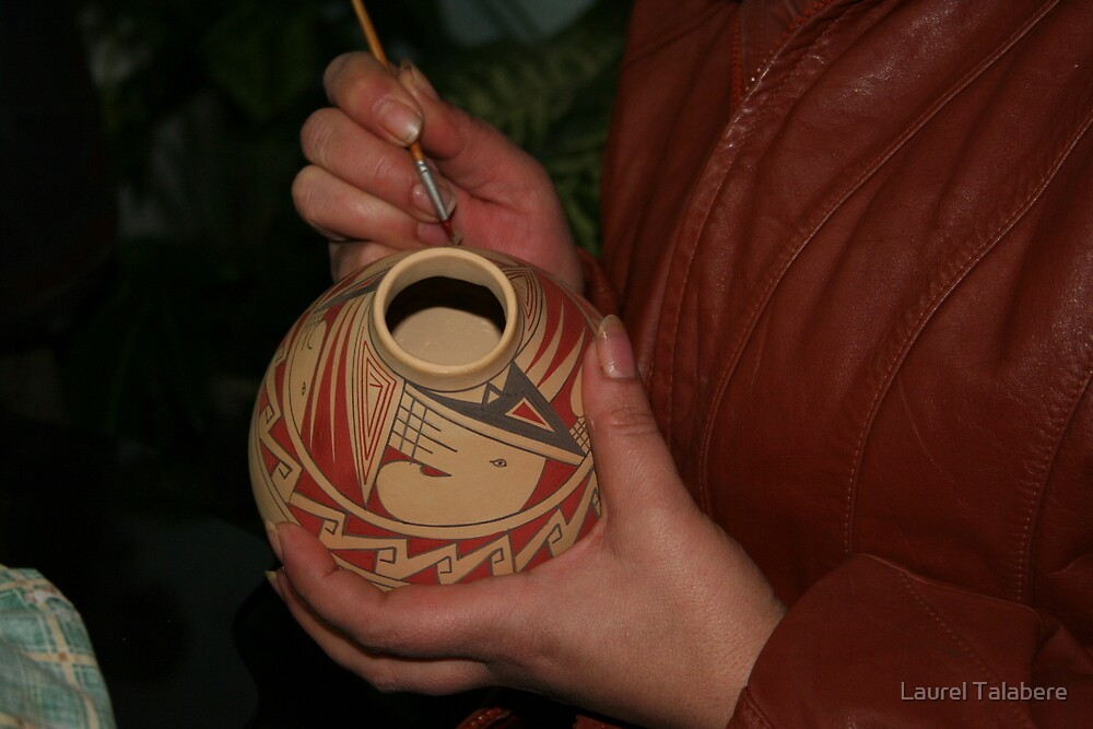 Painting the Pottery by Laurel Talabere