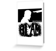 Bedlam In Troubletown BLAM Censored Greeting Card
