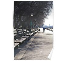 Riverside Park Benches, NYC Poster