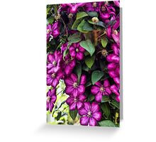 Flowing FLowers Greeting Card