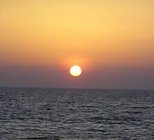 Sincere Sunset @ Dwarika sea by Dhaval Shah