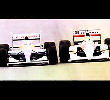 Nigel Mansell v Ayrton Senna by Simon Kirwin