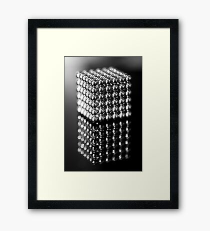 Neo Puzzle Cube Framed Print