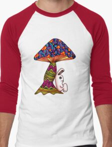 Rabbit by a Mushroom Men's Baseball ¾ T-Shirt