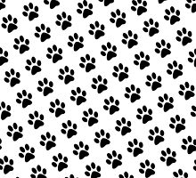 Black and White Paw Prints by aegisdesigns