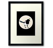 King Magpie Framed Print
