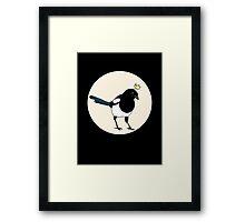 King Magpie Framed Print