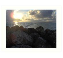 Miami Beach Sunrise 3 Art Print