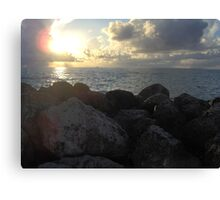 Miami Beach Sunrise 3 Canvas Print