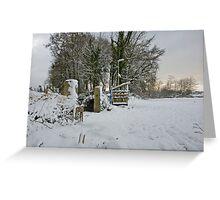 Snow Scene Yelverton, Dartmoor Greeting Card