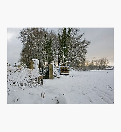 Snow Scene Yelverton, Dartmoor Photographic Print