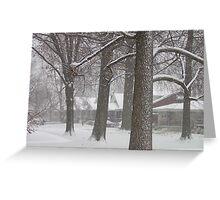 Snowy Sherry Greeting Card