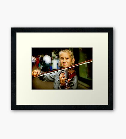 They say you shouldn't Play in the Street Framed Print