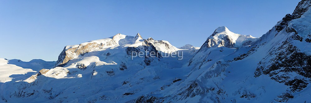 Monte Rosa and Lyskamm by peterwey