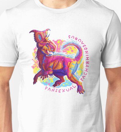 Pansexual Pachyrhinosaurus (with text)  Unisex T-Shirt