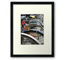 Oxford Bicycles Framed Print
