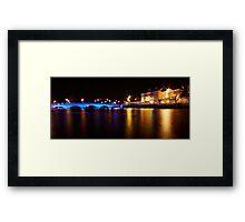 Bedford Town Bridge by Night Framed Print