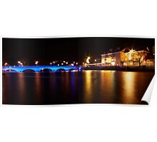 Bedford Town Bridge by Night Poster