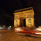Arc de Triomphe by Night by Greg Webb