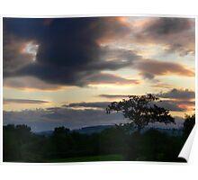 Llangollen Moody Sky Poster