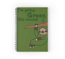 I'm Going Green This Season Spiral Notebook