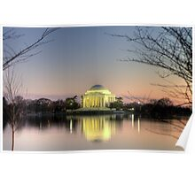 Jefferson Memorial at Dusk Poster