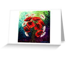 Daisies & Poppies Greeting Card