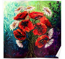 Daisies & Poppies Poster