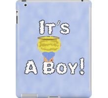 It's A Boy Angel Sitting On A Cloud Blonde Head iPad Case/Skin
