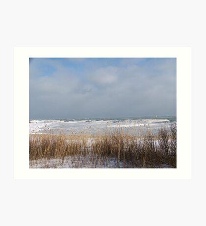 Lake Huron Winter Shoreline Art Print