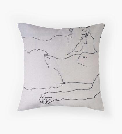 Two Women. ( After Lautrec ) Throw Pillow