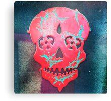 Paint Peel Skull  Canvas Print