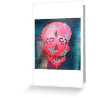 Paint Peel Skull  Greeting Card