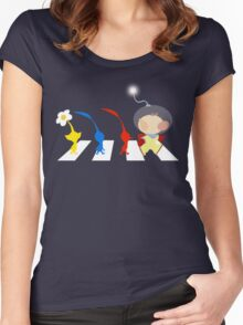 Pikmin Abbey Road Women's Fitted Scoop T-Shirt