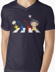 Pikmin Abbey Road Mens V-Neck T-Shirt
