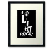 Lets Rock Flying V Guitar Framed Print