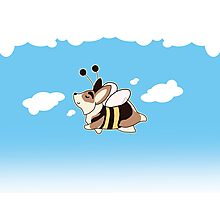 Flying Bee Gus Photographic Print